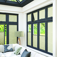 Photo of Perfect-Fit blinds on conservatory windows