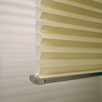 Cropped image of pleated blinds