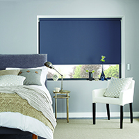 Image of navy roller blinds