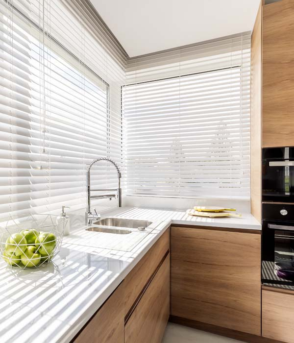 Photo of Blue Window Blinds